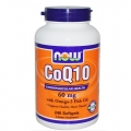 NOW FOODS COQ10 60mg オメガ3配合